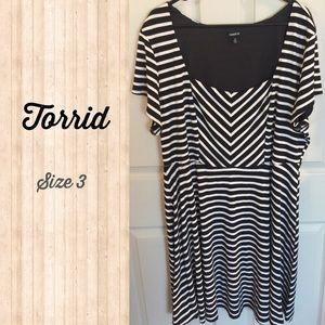 Torrid Size 3 striped skater dress